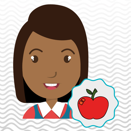 school years: child chat student school vector illustration graphic
