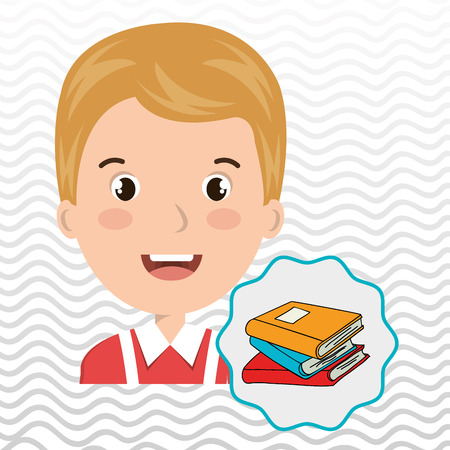scholar: child chat student school vector illustration graphic