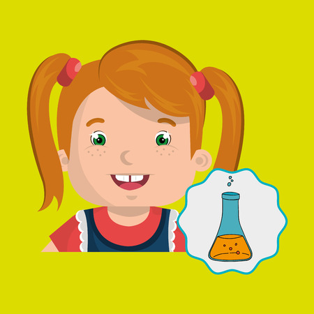young schoolchild: child chat student school vector illustration graphic