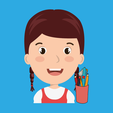 child chat student school vector illustration graphic