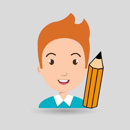 niños platicando: charla niño en edad escolar del estudiante ejemplo gráfico del vector