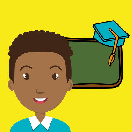 student board watch graduation vector illustration graphic Illustration
