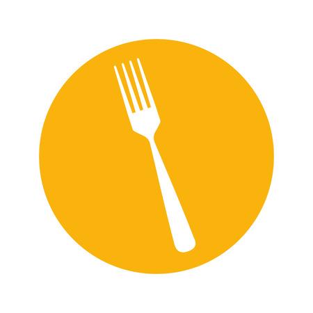 tool cutlery silhouette icon vector illustration design Illustration