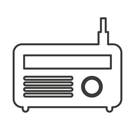 antena: radio antena silhouette icon vector illustration design Illustration