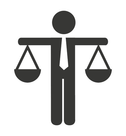 justice scale isolated icon vector illustration design