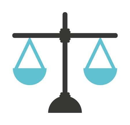 scale of justice: justice scale isolated icon vector illustration design