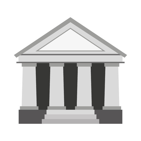 supreme court: justice building isolated icon vector illustration design