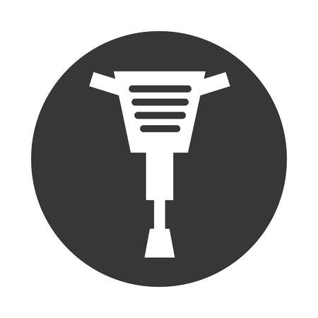 adjusting: hammer hidraulic tool icon vector illustration design