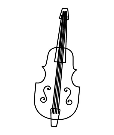 chello instrument isolated icon vector illustration design
