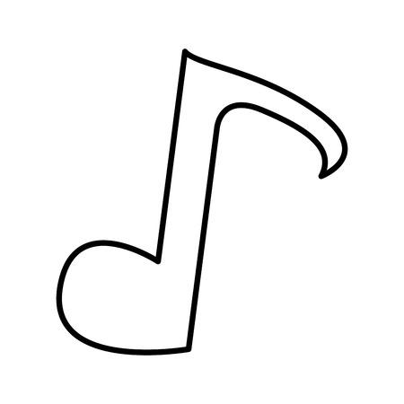 key signature: note music silhouette icon vector illustration design
