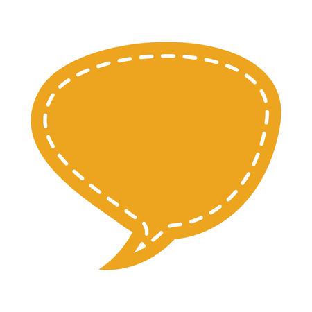 dialog balloon: speech bubble isolated icon vector illustration design