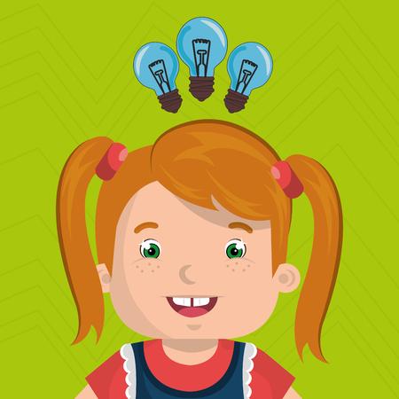 child student idea icon vector illustration graphic Vectores