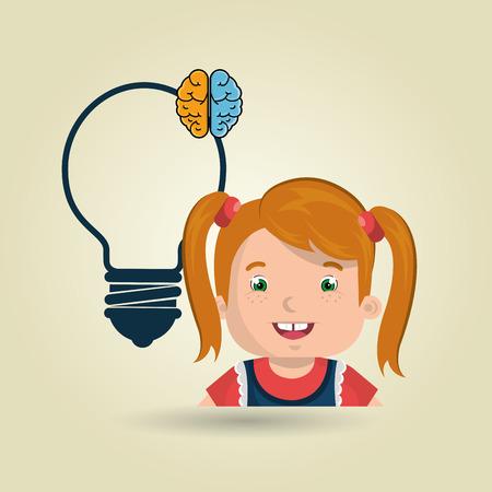 child student idea icon vector illustration graphic Illustration