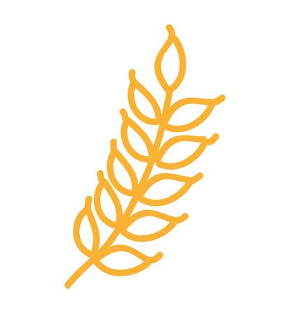 grain fields: wreath leafs gluten icon vector illustration design Illustration