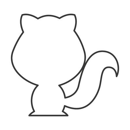 animal silhouette: cute animal silhouette isolated icon vector illustration design Illustration