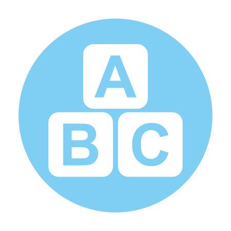 basic letters: cubes blocks alphabet icon vector illustration design