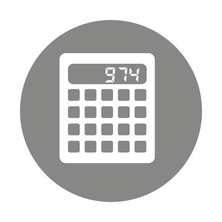 math icon: calculator digital math icon vector isolated design