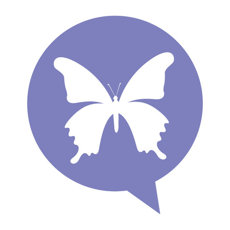 butterfly isolated: butterfly silhouette isolated icon vector illustration design Illustration