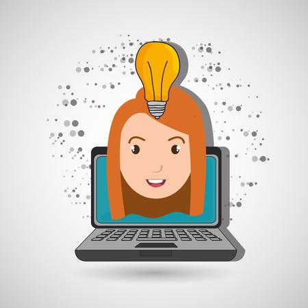student laptop idea school vector illustration graphic
