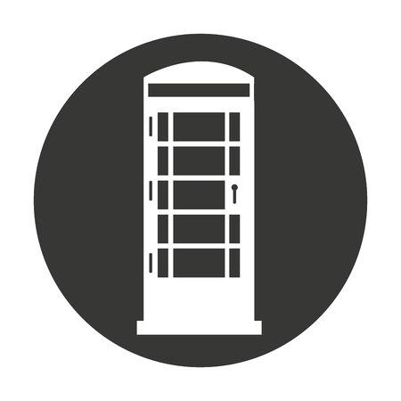 cabine telephone london isolated vector illustration design Ilustração