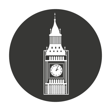 english culture: big ben london isolated vector illustration design