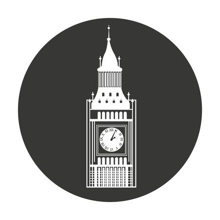 westminster: big ben london isolated vector illustration design