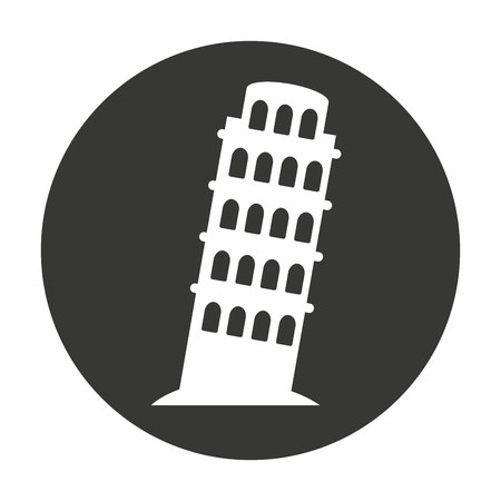 pisa tower: pisa tower isolated icon vector illustration design