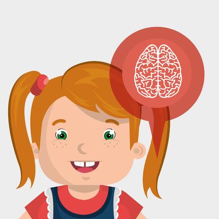 child brian idea icon vector illustration graphic Illustration
