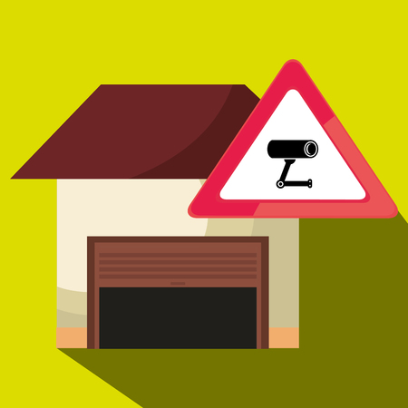 gráfico de seguridad de garaje seguro icono vector ilustración Ilustración de vector