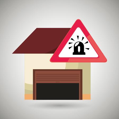 sécurité garage icône sécuritaire vecteur illustration graphique
