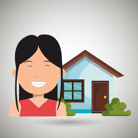 for rental: man house estate icon vector illustration graphic