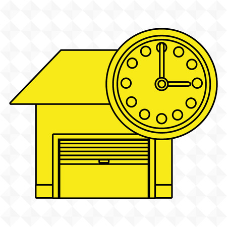 time keeping: garage security safe icon vector illustration graphic Illustration