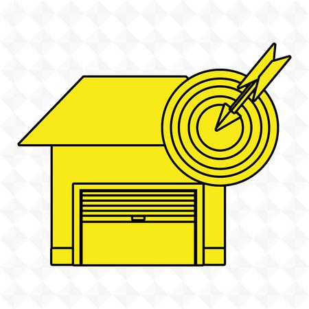 la seguridad del garaje icono segura ejemplo gráfico del vector