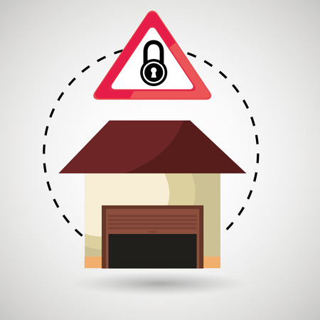 garage security safe icon vector illustration graphic Illustration