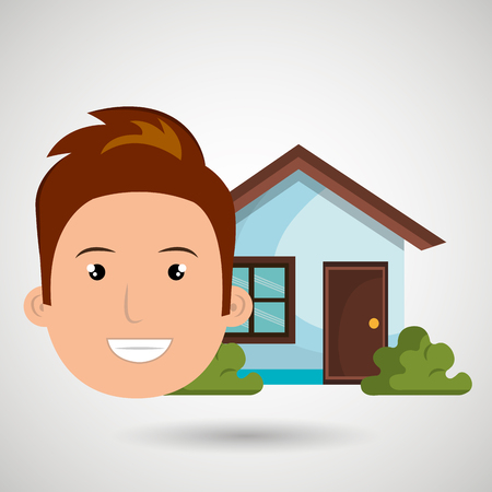 man house estate icon vector illustration graphic