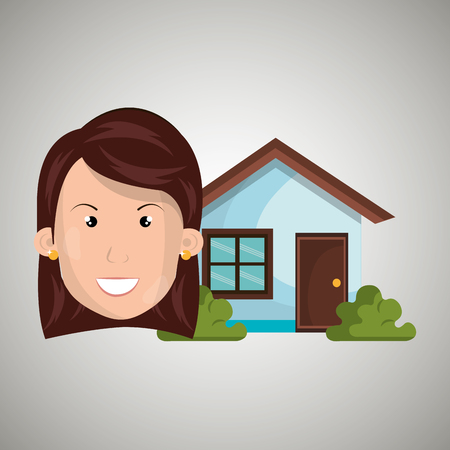 man house estate icon vector illustration graphic