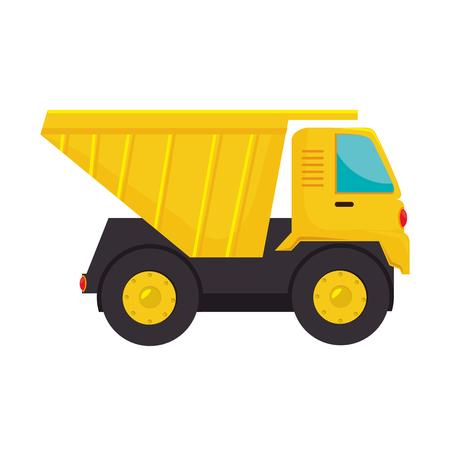truck dump construction industry cargo service vector  isolated illustration