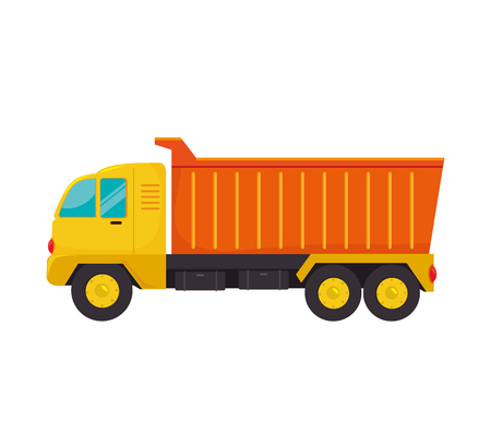 truck dump construction industry cargo service vector  isolated illustration