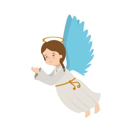 heaven: angel heaven musical instrument halo wing  vector  isolated illustration