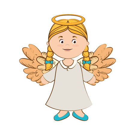 heaven: angel heaven halo wing  vector  isolated illustration