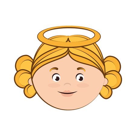 heaven: angel heaven halo wing girl cute cartoon vector  isolated illustration