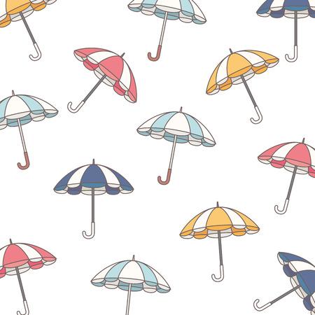parasol: background parasol umbrella striped rain handle color vintage vector  illustration