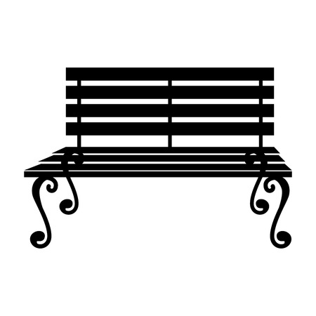bench alone: bench chair seat furniture relaxing comfortable stripe vector  isolated illustration