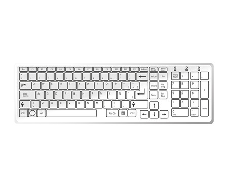 put the key: keyboard device computer pc typescript alphabet qwerty button vector  isolated illustration