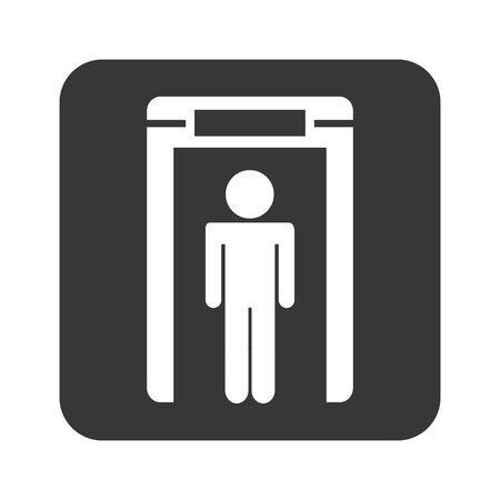 xray machine: person scanner machine airport check vector illustration design Illustration