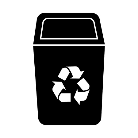 discard: bin recycle ecology container environment trash junk vector  isolated illustration Illustration