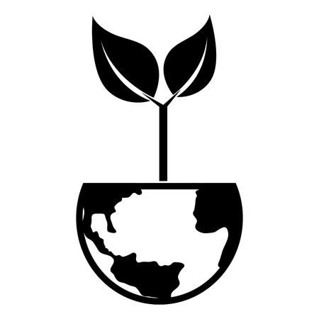 potting soil: plant growing earth ecology green leaves natural environment vector  isolated illustration