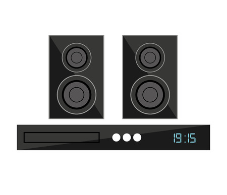 home theater: speaker home theater isolated icon vector illustration design