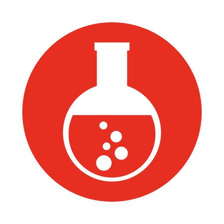 a solution tube: tube test glass icon vector illustration design