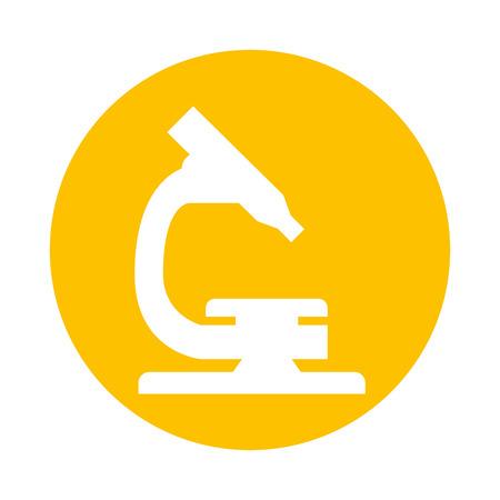 chemically: microscope science laboratory icon vector illustration design